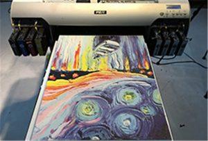Drobės pavyzdys iš A2 UV spausdintuvo WER-EH4880UV