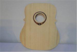 Medžio gitaros pavyzdys iš A2 dydžio uv spausdintuvo WER-DD4290UV